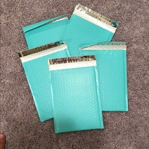 Turquoise bubble mailers